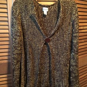 Chico Brown and Gold Knit Cardigan